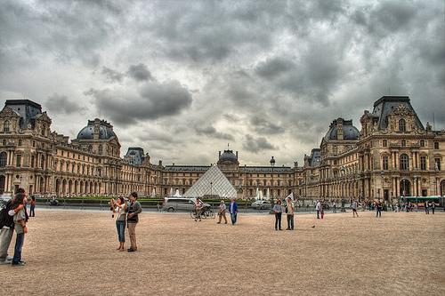 著名建筑物手绘图巴黎