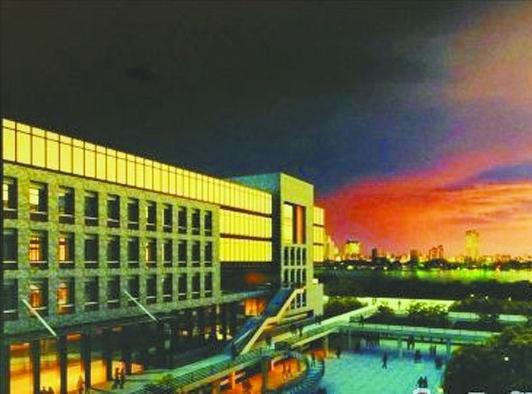 澳大横琴校区教学楼区效果图.高清图片