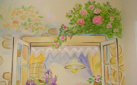 看得见的风景童趣家居墙面彩绘