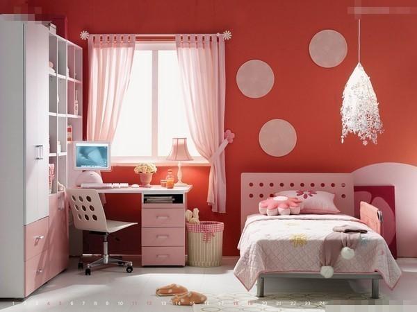 漫画般小女生卧室