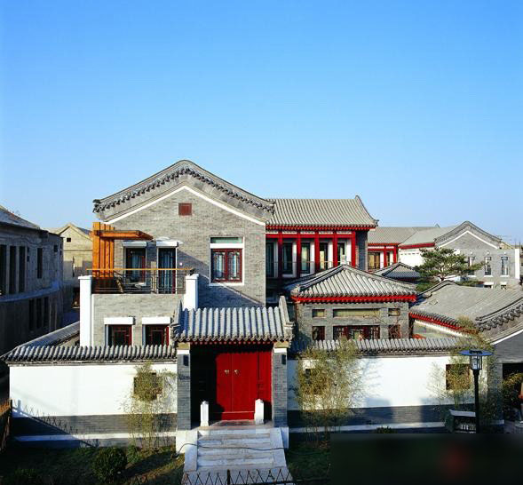 """新中式建筑特点打造""""天人合一""""的现化生活理念"""