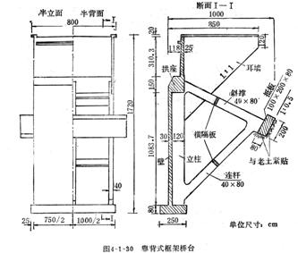 (3)拱桥的其他形式桥台   ● 组合式桥台:适用于各种地质条件