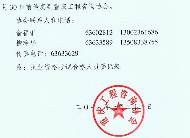 关于办理2011年度注册咨询工程师(投资)执业资格考试合格人员注册登记的通知