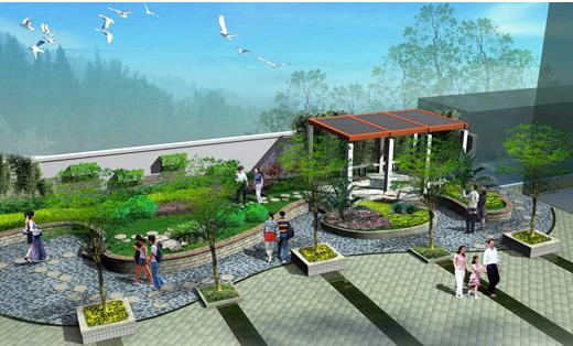 小庭院景观设计效果图图片