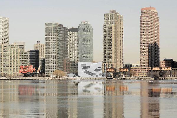美国 纽约东河河岸 猎人图书馆