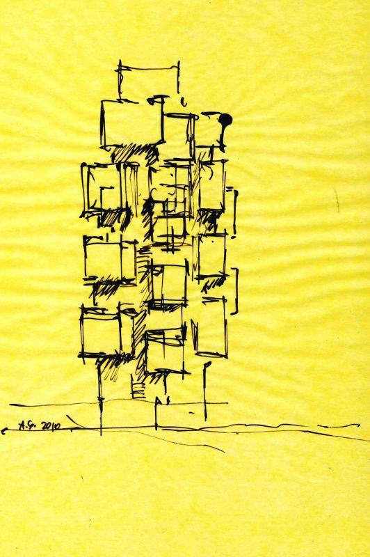 别墅封面设计手绘图