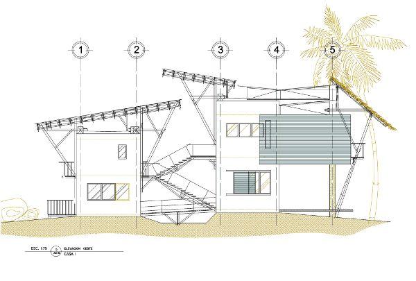 建筑正立面图手绘