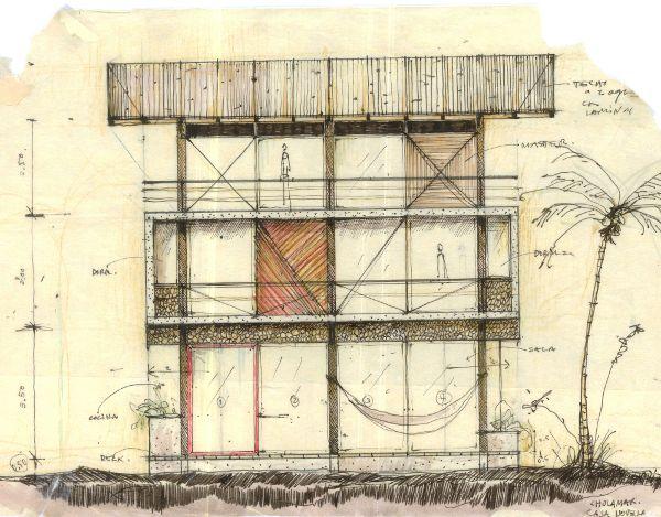 房屋建筑外观手绘图