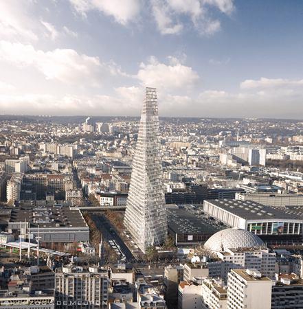 """赫尔佐格和德梅隆设计的""""三角塔"""":即将刷新巴黎天际"""