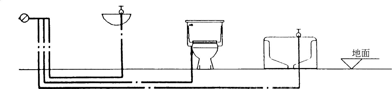 图B 5.生活、消防合用水池配管不合理,导致水池水质变坏其配管应注意: (1)生活用水出水管应采用虹吸出流,顶部开凿小孔; (2)进出水管对置,池内设导流设施,使水流不至于短路; (3)贮水池容积大于48小时生活用水时,应独立设置生活用水贮水池。