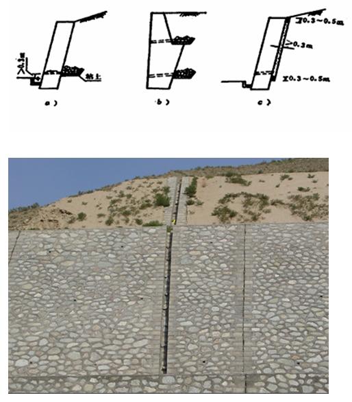 高玲玲一建《公路工程》课程:重力式挡土墙工程施工图片