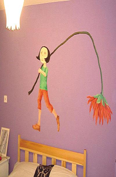 """爱家饰家:手绘墙画 让家走进""""我时代"""""""