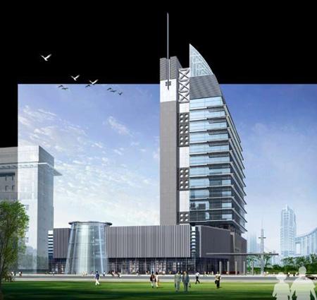 商业建筑为主的设计方案效果图 一