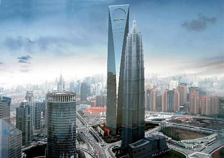 上海著名建筑物简笔画