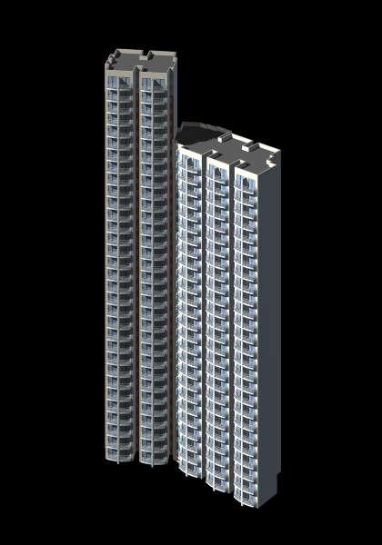3dmax素材-高层建筑,3d模型以及效果图(二)