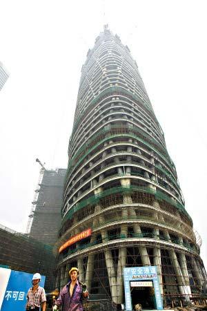 独特的筒中筒结构体系在目前的世界超高层建筑中是