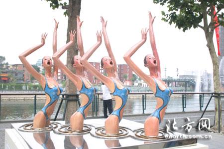 奥运景观雕塑国际巡展?天津展圆满落幕(图文)