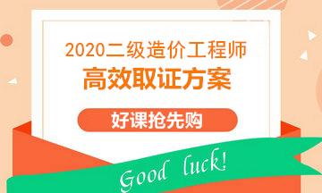 2020二级造价高效取证方案