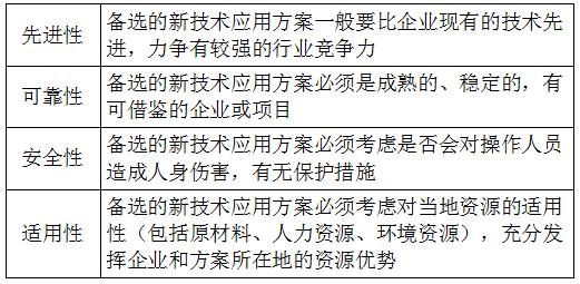 """""""三新""""应用方案的选择原则-一级建造师经济考点"""