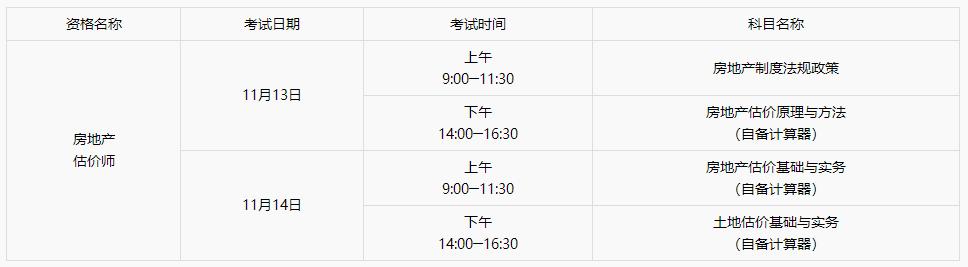 2021重庆房地产估价师报名时间:10月28日-11月1日